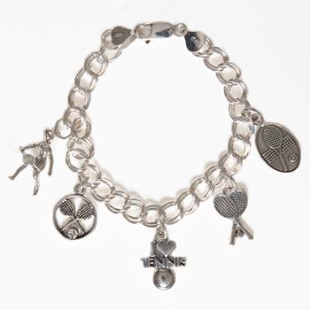 Image 2 Sterling Silver Charm Bracelet - 7