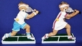 Image Tennis Playing Teddies!