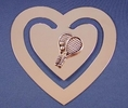 Image Tennis Bookmark - Heart Shaped