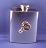Image Stainless Steel Tennis Flask - 3 oz