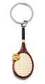 Image Handcrafted Wooden Tennis Racquet Keychain