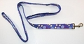 Image Dog Leash with Tennis Racquets and Balls - Blue Theme