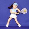 Image Adorable Tennis Girl Ornament