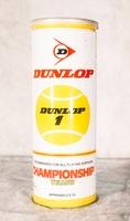 Image Vintage Dunlop Championship Yellow Tennis Balls - Metal Can - 3 balls copy