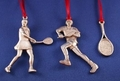 Image Handcrafted Pewter Tennis Ornaments