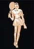 Image High Fashion Tennis Lady Pin