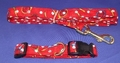 Image Tennis Dog Collars and Leads - Red Style