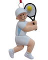 Image Tennis Boy Strinikng Backhand Ornament