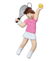 Image Tennis Girl Ornament