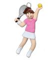 Image Tennis Girl Ornament