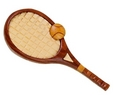 Image Handcrafted wooden tennis racquet magnet
